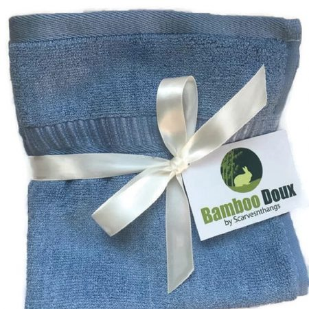 Bamboo washcloth blue